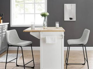 Prusiner Faux leather Counter Stool  Set of 2