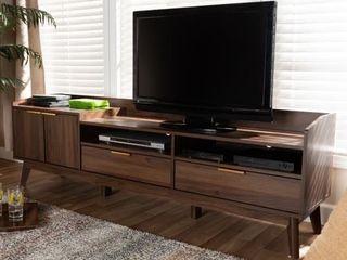 Mid Century Modern 2 Drawer TV Stand