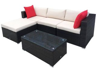 5pc Patio Set from OutSunny  missing one cushion  MSRP  609 99