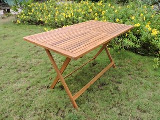 International Caravan Royal Fiji 48 inch Folding Patio Dining Table Retail 124 99