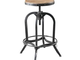 Adjustable 26 inch Natural Fir Wood Finish Bar Stool by Christopher Knight Home