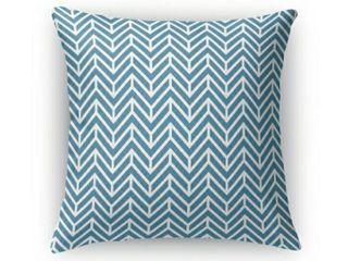 KD Home Chevron Ocean Indoor Outdoor Pillow