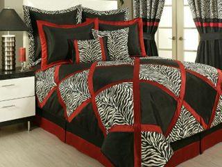 Sherry Kline PCHF True Safari Black 4 piece Bedding