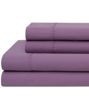 Wrinkle Free 420 Thread Count Cotton Sheet Set  Twin  Orchid   Elite Home Products