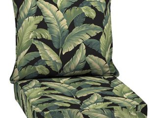 Arden Selections Onyx Cebu Outdoor Deep Seat Set   46 5 in l x 25 in W x 6 5 in H