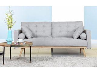 Tufted linen Mid century Modern Sofa Retail 343 99