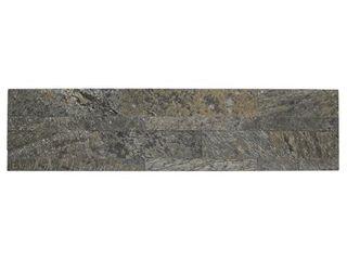 Aspect 6 x 24 inch Mossy Quartz Peel and Stick Stone Backsplash