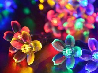 22 96ft 50 lED Solar Fairy Blossom Flower for Outdoor lights   Medium