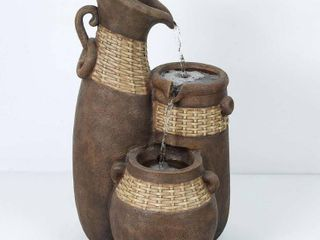 Resin Three Pitchers Outdoor Fountain Retail 137 09