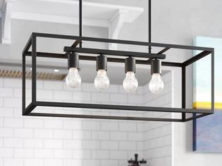 Jl Styles Inc Black 4 light Contemporary Pendant light Retail 145 99