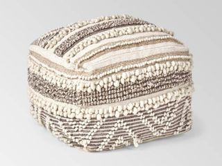 Gerardo Boho Cube Wool and Cotton Pouf by Christopher Knight Home Retail 154 99