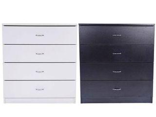 Furniture 4 drawer Wood Storage Chest white