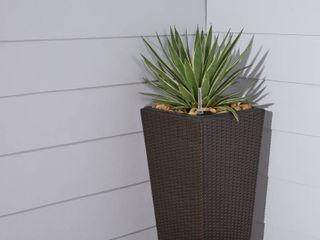 Quaqtaq Cubico Wicker Smart Self watering Planter in Espresso by Havenside Home Retail 104 99
