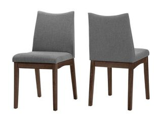 Dimitri Mid Century Fabric Dining Chair  Set of 2  by Christopher Knight Home Retail 161 99