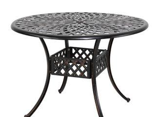 Cast aluminum bistro round table TAC231