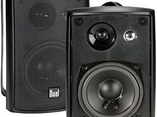 Dual Electronics lU43PB 3 Way High Performance Outdoor Indoor Speakers with Powerful Bass   Effortless Mounting Swivel Brackets   All Weather Resistance   Expansive Stereo Sound Coverage   Sold in Pairs