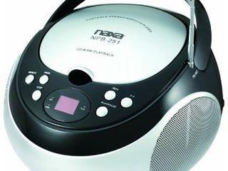 NAXA Electronics NPB 251BK Portable CD Player with AM FM Stereo Radio Black