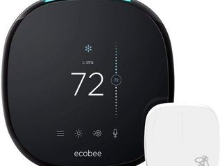 ecobee4 Smart Thermostat with Built In Alexa  Room Sensor Included