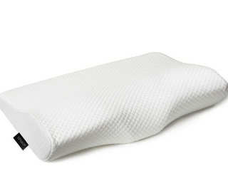 EPABO Contour Memory Foam Pillow Orthopedic Sleeping Pillows  Ergonomic Cervical Pillow for Neck Pain   for Side Sleepers  Back and Stomach Sleepers  Free Pillowcase Included  Firm   Queen