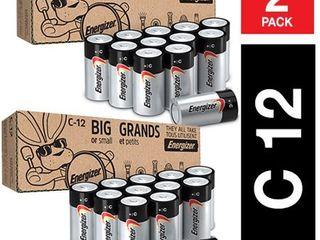 Energizer Max C Batteries  Premium Alkaline C Cell Batteries  12 Battery Count