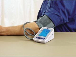 Medline Automatic Digital Blood Pressure Monitor with Standard Adult Cuff for Upper Arm  with large lED Display  Batteries Included  Great for Home Use  Professional Medical Use