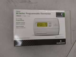 Emerson Thermostat Classic 80  Single Stage Programmable 1F80 361