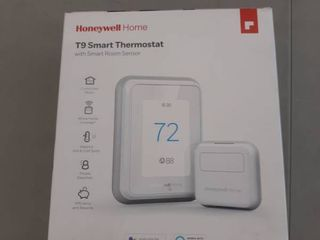 Honeywell Home T9 WIFI Smart Thermostat with 1 Smart Room Sensor  Touchscreen Display  Alexa and Google Assist
