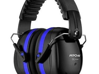 Mpow 035 Noise Reduction Safety Ear Muffs  Shooters Hearing Protection Ear Muffs  Adjustable Shooting Ear Muffs  NRR 28dB Ear Defenders for Shooting Hunting Season  with a Carrying Bag Dark Blue