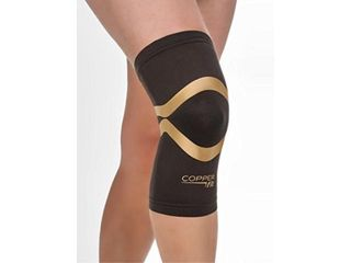 Copper Fit Pro Series Performance Compression Knee Sleeve  Black with Copper Trim  Medium