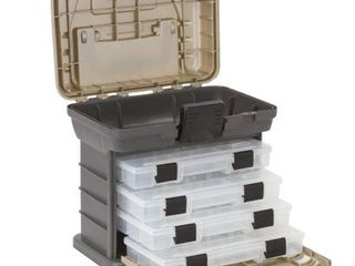 Plano Molding 135430 Stow N  Go Pro Rack with 4  23500s Prolatch Organizers Graphite Gray  Sandstone