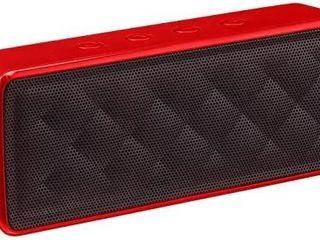 AmazonBasics Portable Wireless 2 1 Bluetooth Speaker  Red