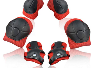 SKl Knee Pads for Kids Protective Gear Knee and Elbow Pads with Wrist Guards 2 8 Years Toddler Boys Girls for Skating Cycling Balance Bike Rollerblading Scooter   missing one