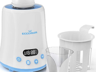 Baby Bottle Warmer  Eccomum Fast Breast Milk Warmer with a Timer  Baby Food Heater with lCD Display Accurate Temperature Control  Constant Mode  Fit All Baby Bottles