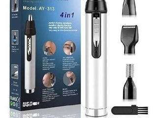 Ear and Nose Hair Trimmer for Men Professional USB Rechargeable Nostril Nasal Hair Vacuum Cleaning System 4 in 1 lightweight Waterproof Hair and Beard Clippers for Women  White