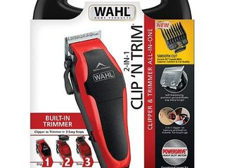 Wahl Clipper Clip  n Trim 2 In 1 Hair Cutting Clipper Trimmer Kit with Self Sharpening Blades  79900 1501