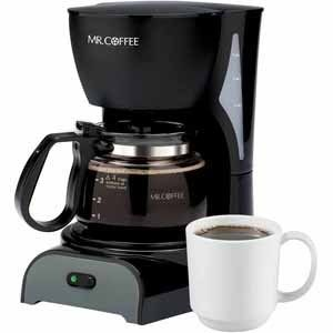 Mr  Coffee 4 Cup Coffee Maker   Black DR5NP
