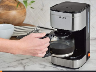 KRUPS Simply Brew Compact Filter Drip Coffee Maker  5 Cup  Silver