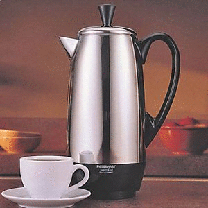 Farberware 12 Cup Percolator  Stainless Steel  FCP412