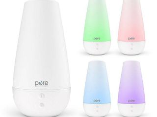 Pure Enrichment PureSpa Xl   2l Ultrasonic Cool Mist Humidifier   Essential Oil Diffuser  Powerful Mist Coverage Up to 350 sq ft for 50 Hrs  Soft Color Changing lights and Quiet Operation