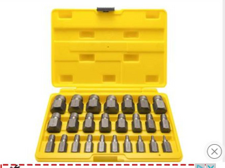 Topec 25Pcs Screw Extractor Set  Hex Head Multi Spline Easy Out Bolt Extractor Set  Premium High Carbon Steel Rounded Bolt Remover   missing 8   Incomplete