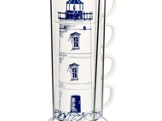 DEI Ceramic Mug  6 25 x 6 5 x 13 25  Blue White