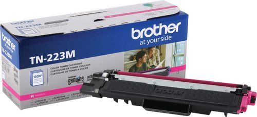 Brother Genuine TN223M  Standard Yield Toner Cartridge  Replacement Magenta Toner  Page Yield Up to 1 300 Pages  TN223  Amazon Dash Replenishment Cartridge