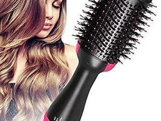 Hair Dryer and Volumizer  szwintec Hair Dryer Brush 3 in 1 Hot Air Brush Anti scald Negative Ion Hair Straightener Brush Comb Curler Styler for All Hair Types