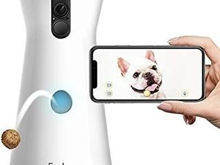 Furbo Dog Camera  Treat Tossing  Full HD Wifi Pet Camera and 2 Way Audio  Designed for Dogs  Compatible with Alexa  As Seen On Ellen  white  001 01WHTOA 1