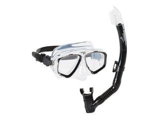 Speedo Adult Recreation Mask Snorkel Set   7530332   Black