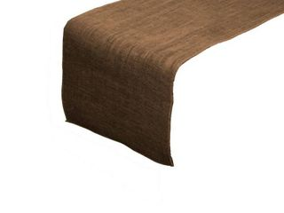 lA linen Dyed Natural Burlap Table Runner 14a x 108a  Brown