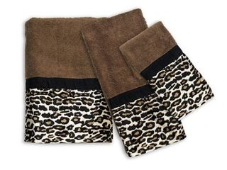 Sweet Home Collection Exotic Animal Print 3 Piece Towel Set