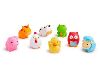 Munchkin Barnyard Friends Squirts Bath Toy  8 Pack