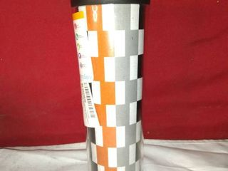 ThermoServ Checkered Cup Orange  Gray and Black