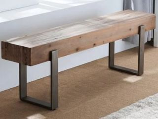 Carbon loft Dunlap Industrial Reclaimed Wood Bench  Retail 209 99